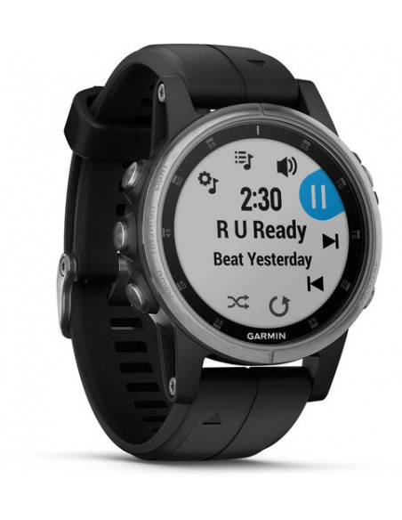 Garmin Fēnix® 5S Plus Silver with Black Band 010-01987-21 smartwatch Garmin - 6