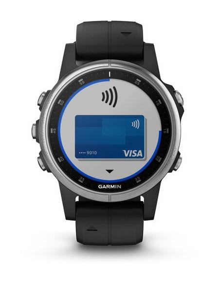 Garmin Fēnix® 5S Plus Silver with Black Band 010-01987-21 smartwatch Garmin - 7