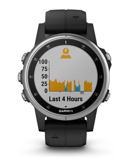 Garmin Fēnix® 5S Plus Silver with Black Band 010-01987-21 smartwatch Garmin - 8