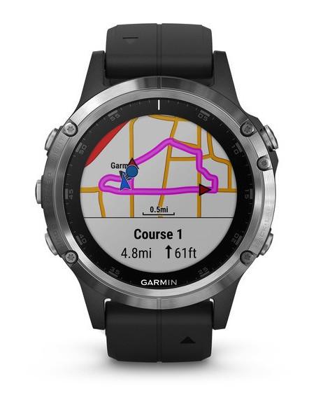 Garmin Fēnix® 5S Plus Silver with Black Band 010-01988-11 smartwatch Garmin - 2