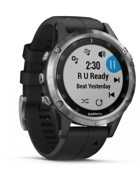 Garmin Fēnix® 5S Plus Silver with Black Band 010-01988-11 smartwatch Garmin - 3