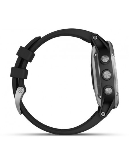 Garmin Fēnix® 5S Plus Silver with Black Band 010-01988-11 smartwatch Garmin - 5