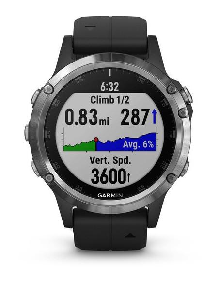 Garmin Fēnix® 5S Plus Silver with Black Band 010-01988-11 smartwatch Garmin - 6