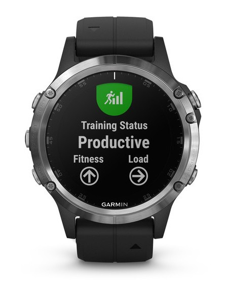 Garmin Fēnix® 5S Plus Silver with Black Band 010-01988-11 smartwatch Garmin - 7