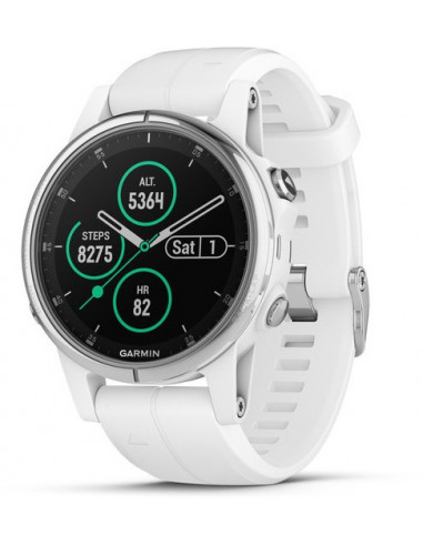 Garmin Fēnix® 5S Plus Sapphire White with white band 010-01987-01 smartwatch Garmin - 1