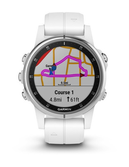 Garmin Fēnix® 5S Plus Sapphire White with white band 010-01987-01 smartwatch Garmin - 2
