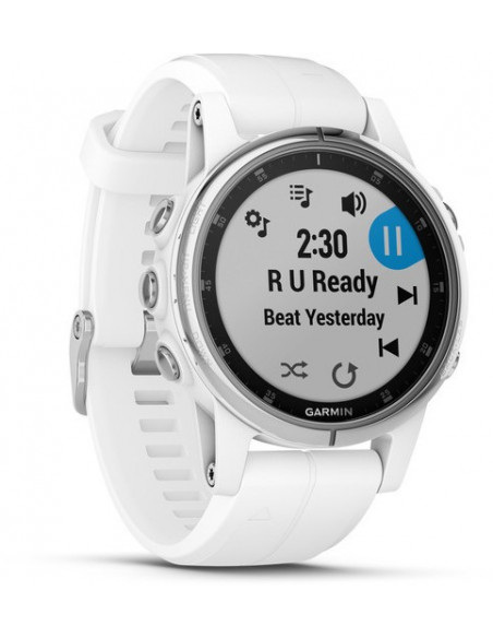 Garmin Fēnix® 5S Plus Sapphire White with white band 010-01987-01 smartwatch Garmin - 3
