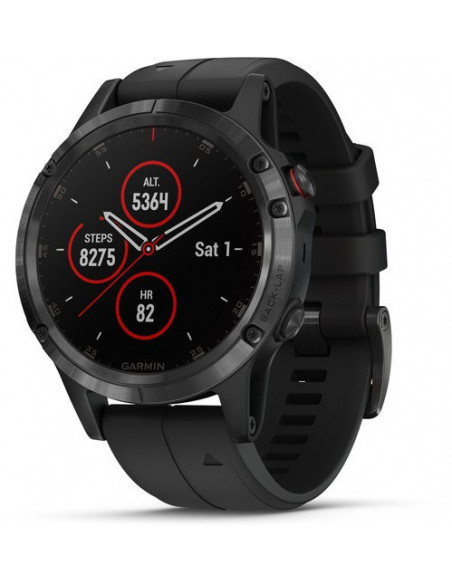 Garmin Fēnix® 5S Plus Black with Black Band 010-01988-01 smartwatch Garmin - 1