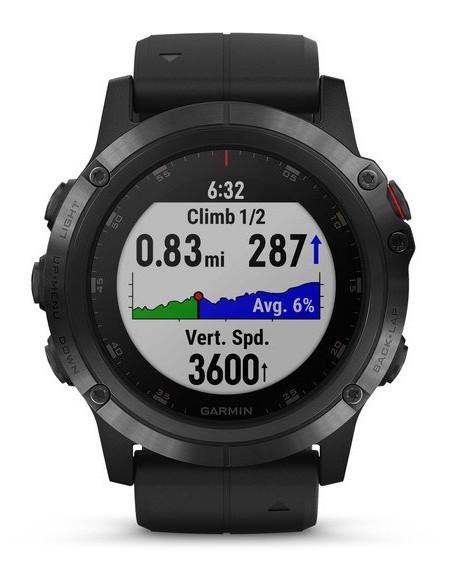 Garmin Fēnix® 5X Plus Sapphire black with Black Band 010-01989-01 smartwatch Garmin - 5