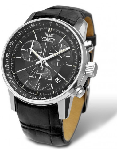 Vostok Europe 6S30-5651174 Gaz-14 Limousine Grand Chrono watch 383.408 - 1