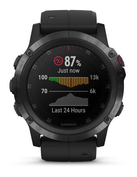 Garmin Fēnix® 5X Plus Sapphire black with Black Band 010-01989-01 smartwatch Garmin - 8
