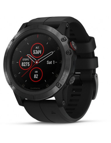 Garmin Fēnix® 5X Plus Sapphire black with Black Band 010-01989-01 smartwatch Garmin - 1
