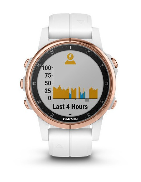 Garmin Fēnix® 5S Plus Sapphire, Rose Gold-tone with Carrara White Band 010-01987-06 smartwatch Garmin - 5
