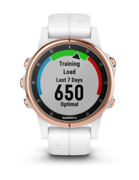 Garmin Fēnix® 5S Plus Sapphire, Rose Gold-tone with Carrara White Band 010-01987-06 smartwatch Garmin - 6