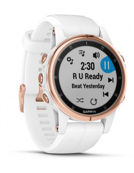 Garmin Fēnix® 5S Plus Sapphire, Rose Gold-tone with Carrara White Band 010-01987-06 smartwatch Garmin - 2