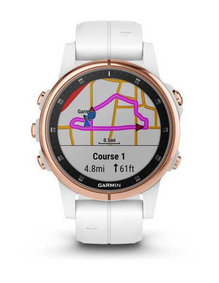Garmin Fēnix® 5S Plus Sapphire, Rose Gold-tone with Carrara White Band 010-01987-06 smartwatch Garmin - 9