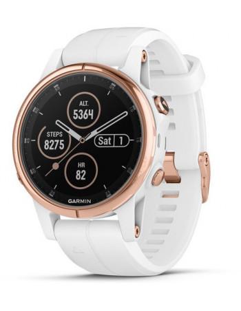 Garmin Fēnix® 5S Plus Sapphire, Rose Gold-tone with Carrara White Band 010-01987-06 smartwatch Garmin - 1
