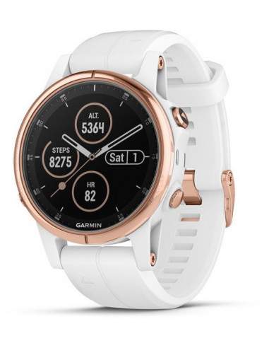 Garmin Fēnix® 5S Plus Sapphire, Rose Gold-tone with Carrara White Band 010-01987-06 smartwatch Garmin - 1