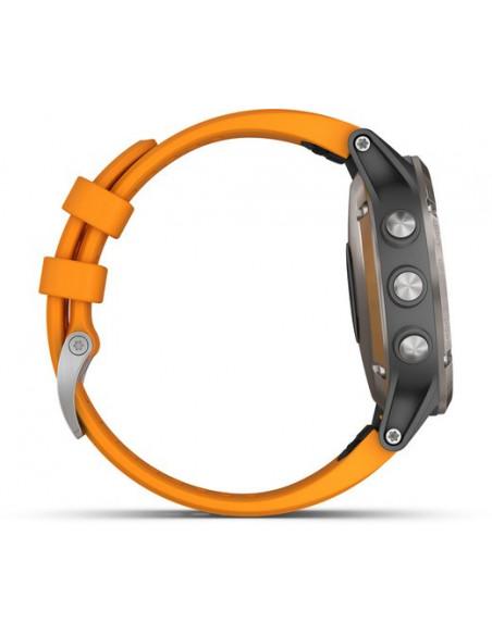 Garmin Fēnix® 5S Plus Sapphire Titanium + Orange band 010-01988-04 smartwatch Garmin - 5