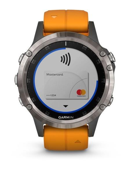 Garmin Fēnix® 5S Plus Sapphire Titanium + Orange band 010-01988-04 smartwatch Garmin - 6