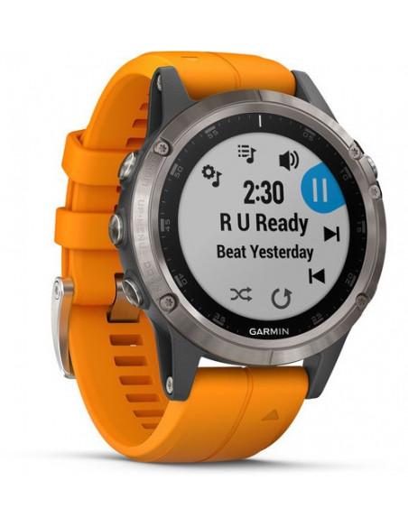Garmin Fēnix® 5S Plus Sapphire Titanium + Orange band 010-01988-04 smartwatch Garmin - 2