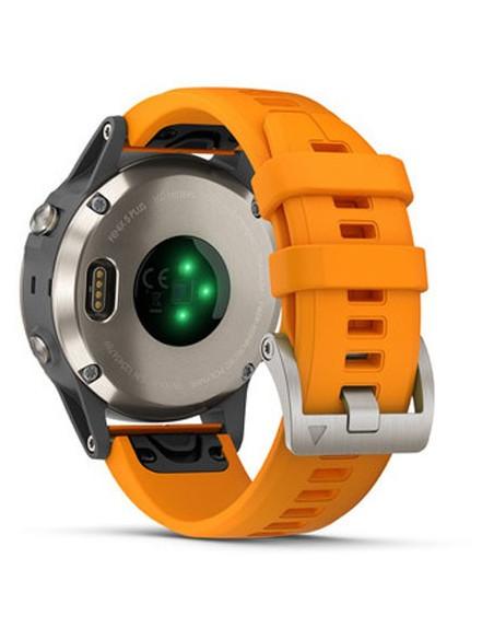Garmin Fēnix® 5S Plus Sapphire Titanium + Orange band 010-01988-04 smartwatch Garmin - 3