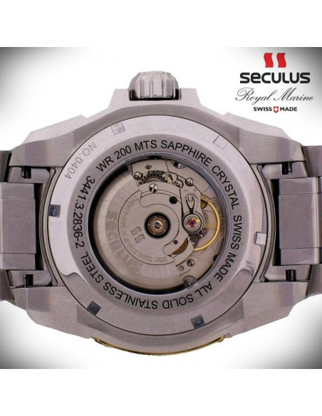 Men's SECULUS 3441.7.2824 Sil SS B Royal Marine Limited Edition watch