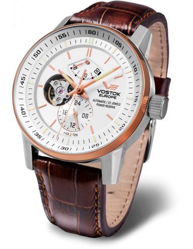 Vostok Europe YN84-565E550 Gaz-14 Automatyczny zegarek z otwartym saldem 578.107375 - 1