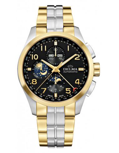 Delma Klondike 52701.680.6.032 automatyczny zegarek z fazą księżyca 3744.21875 - 1