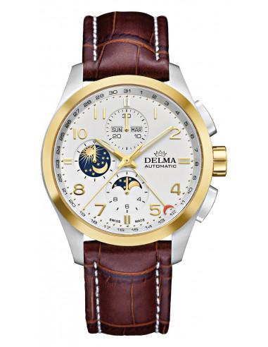 Delma Klondike 52601.680.6.012 automatyczny zegarek z fazą księżyca 3644.372917 - 1