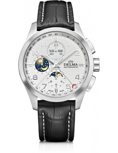 Delma Klondike 41601.680.6.012 automatyczny zegarek z fazą księżyca 3544.527083 - 1