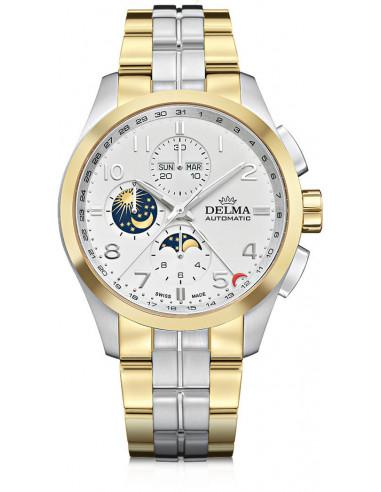 Delma Klondike 52701.680.6.012 automatyczny zegarek z fazą księżyca 3744.21875 - 1