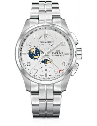 Delma Klondike 41701.680.6.012 automatyczny zegarek z fazą księżyca 3644.372917 - 1