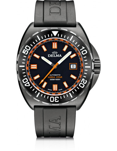 Delma Shell Star Black Tag 44501.670.6.031 automatic diving watch 1288.01125 - 1