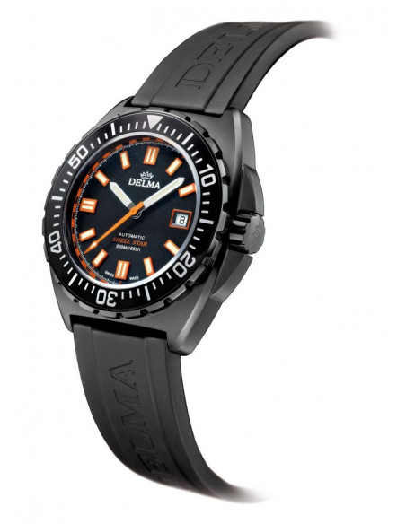 Delma Shell Star Black Tag 44501.670.6.031 automatic diving watch 1288.01125 - 2
