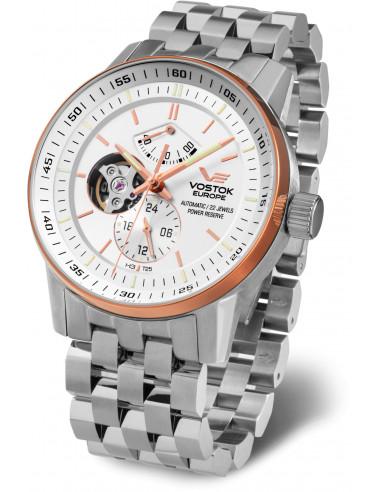 Vostok Europe YN84-565E550B Gaz-14 Automatyczny zegarek z otwartym saldem 618.045708 - 1