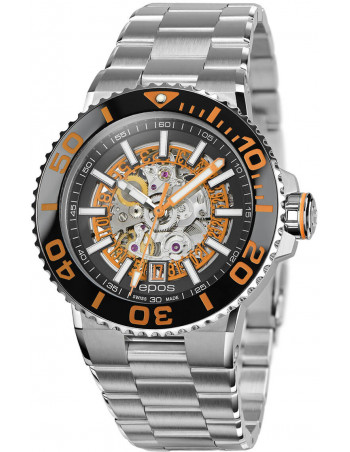 Epos Sportive Diver 3441.135.99.15.30 automatic skeleton watch Epos - 1