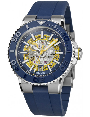 Epos Sportive Diver 3441.135.96.16.56 automatic skeleton watch Epos - 1