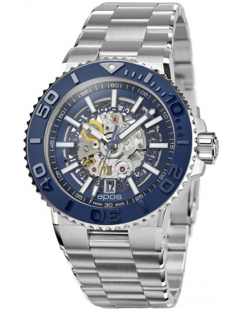 Epos Sportive Diver 3441.135.26.16.30 automatic skeleton watch Epos - 1