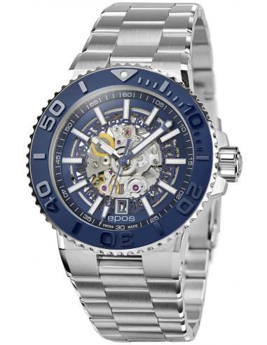 Epos Sportive Diver 3441.135.26.16.30 automatic skeleton watch Epos - 1