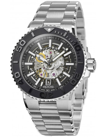 Epos Sportive Diver 3441.135.25.15.30 automatic skeleton watch Epos - 1