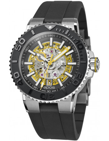 Epos Sportive Diver 3441.135.20.15.55 automatic skeleton watch Epos - 1