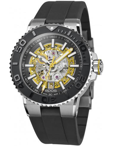 Epos Sportive Diver 3441.135.20.15.55 automatic skeleton watch Epos - 1