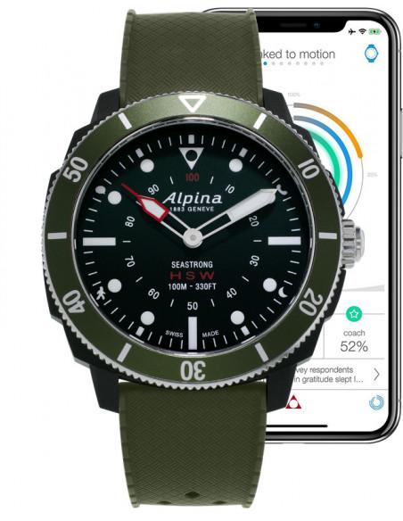 Alpina Seastrong Horological Smartwatch AL-282LBGR4V6 Alpina - 2
