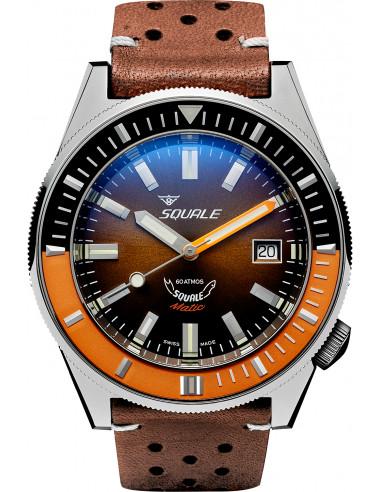 Squale Squalematic 60ATM Brązowy profesjonalny zegarek do nurkowania 1227.105292 - 1