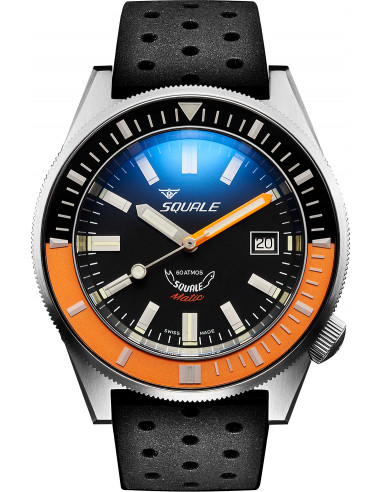 Squale Squalematic 60ATM Black/Orange professional diving watch Squale - 1