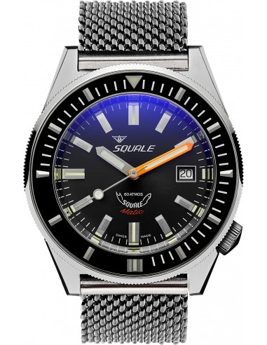 Squale Squalematic 60ATM Black professional diving watch Squale - 1