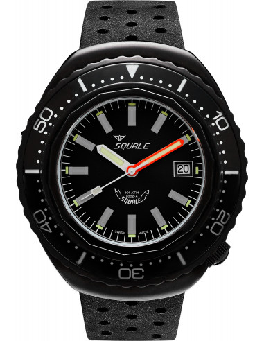 Squale 2002 101 Atmos black professional diving watch Squale - 1