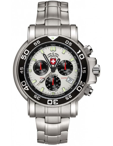 CX Swiss Military 2465 Navy Diver 500 chronograph watch