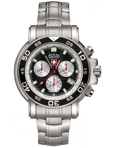 CX Swiss Military 2466 Navy Diver 500 chronograph watch